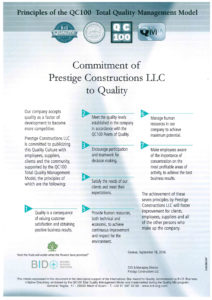 Principles of the QC100 - Total Quality Management Model